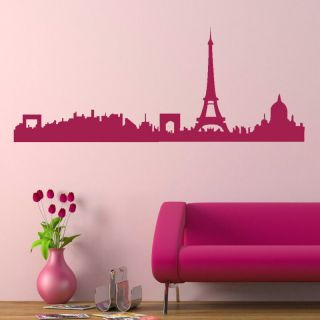 PARIS SKYLINE EIFFEL TOWER WALL ART STICKER DECAL transfer graphic