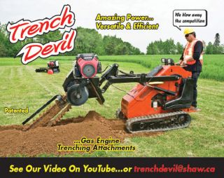 NEW Gas Engine Trenching Attachment fits Ditch Witch, Toro, Bobcat