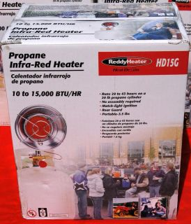 Heat Demon HD15G Infra Red 10 15,000BTU Tank top Propane Heater