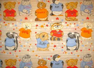 SHIRT TALES Twin Sheet Set Flat + Fitted + Pillowcase  EUC  Care Bears