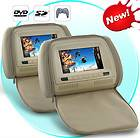 Inch Headrest DVD Player with Gaming System and FM Transmitter (Tan