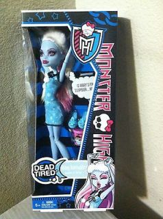 Monster High Dead Tired Doll Abbey Bominable Daughter of The Yeti New