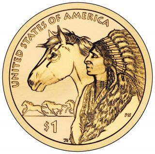 2012 P&D set BU Sacagawea Native American Dollars Trade Routes Design
