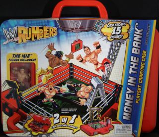 THE BANK PLAYSET & CASE W/ THE MIZ   WWE RUMBLERS TOY WRESTLING FIGURE