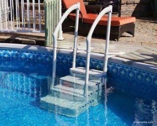 Innovaplas Biltmor In Pool Above Ground Pool Step w 2 Handrail & Deck