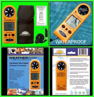 WATER PROOF DIGITAL ANEMOMETER AIR FLOW METER WIND SPEED GAUGE SENSOR