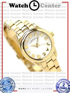 Marc by Marc Jacobs Womens Gold Tone Analog Watch MBM3116
