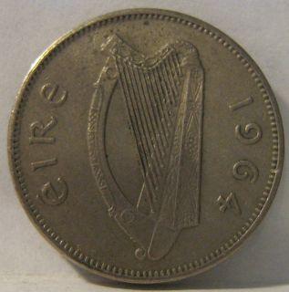 IRELAND Irish Coin 6 Pence 1964 K&K #H0519 WOLFHOUND