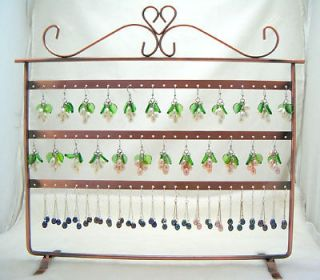 Cooper Metal 64 holes for Earrings Display Jewelry Holder Stand Shelf