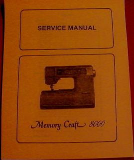Newly listed Janome Memory Craft 8000 Sewing Machine Service Manual