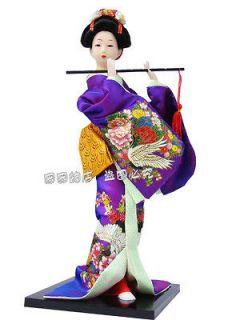 Oriental Broider Doll, figurine Japanese geisha dolls statue XH650