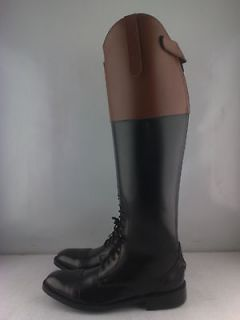 Men Horse Riding Leather Field Boots with Tan Top All Sizes available