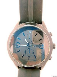 Unlisted by Kenneth Cole Mens Silicone Strap Analog Watch UL5007