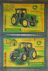 John Deere Farm Tractor Unstuffed Pillow Set of 2
