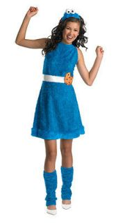 Child Large 10 12 Tween Cookie Monster Girls Costume   Sesame Street