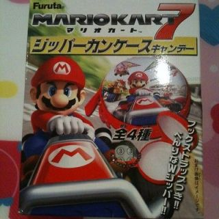 Nintendo Wii U Mario Kart 7 Candy Zipper Can Case Japan Import Donkey
