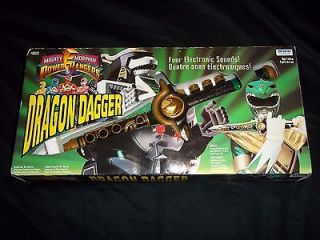 POWER RANGERS GREEN RANGERS DRAGON DAGGER MIB Super Rare 1993 Irwin