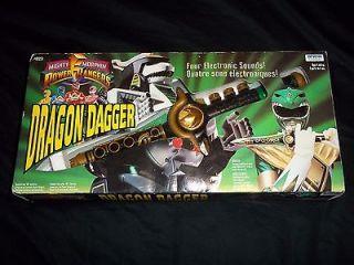 POWER RANGERS GREEN RANGERS DRAGON DAGGER MIB Super Rare 1993 Irwin