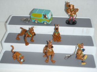 SCOOBY DOO PVC TOY FIGURE MIXED 7 toys BURGER KING 2 KEYCHAIN MYSTERY