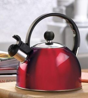 Stainless Steel Red Tea Kettle