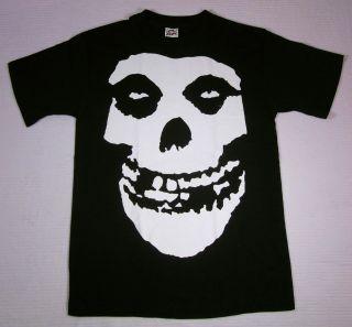 MISFITS Skull Logo T shirt Punk Rock Fiend Tee SzS New