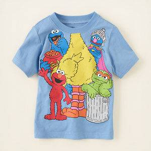 Big Bird Sesame Street Graphic T shirt,Baby Girl or Boy Size 6 9,9 12