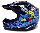 KIDs YOUTH BLUE MOTOCROSS HELMET MX ATV DIRT BIKE ~ M