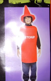Ketchup Catsup Bottle Child 7 10 Costume NIP