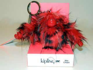 Kipling Red Monkey Keychain Key Ring Bag Charm Large Redhot NWT NIB