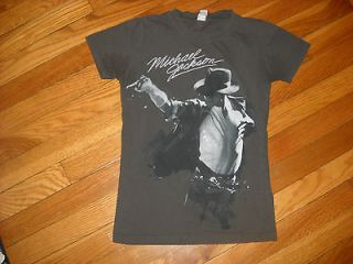 Michael Jackson Gray Graphic Short Sleeve Tee Size Small Fashion