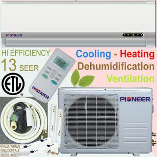 Ton PIONEER Ductless Mini Split Air Conditioner Heat Pump Incl. Kits