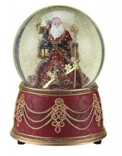 Roman Christmas Santa Claus Snowflake Snow Globe Figurine