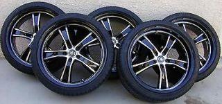 20 Konig Airstrike Black Machined Face Wheels, Michelin Pilot Tires