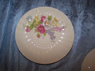 SEMI VITREOUS EDWIN M KNOWLES CHINA CO FLORAL USA OLD made in usa