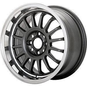 New 15X7.5 4x100 KONIG Retrack Graphite Wheels/Rims