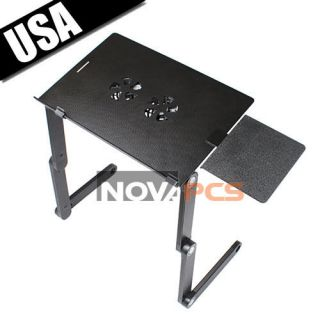 Portable Folding Laptop Notebook Table Desk Bed Sofa Tray USB Cooling