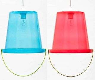Bucket Hanging Ceiling Light Lamp Shade Cover Fun Coolie & Fitting