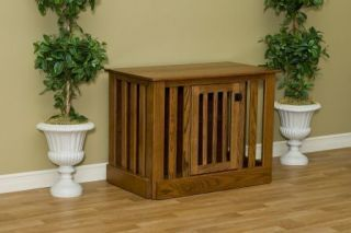 Extra Large Wood Dog Crate Custom Stains to match your furniture
