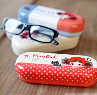 Korean lovely cute girl Pocket School Office make up bag Glasses