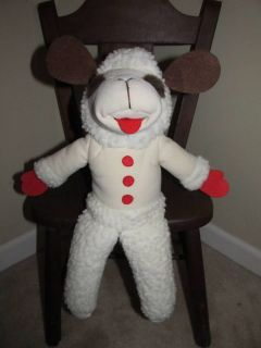 Shari Lewis 1992 LAMB CHOP Hand Puppet 17 Tall Plush Lovey Toy