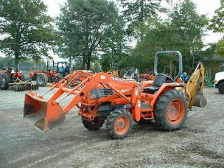Kubota L3300GST Tractor Loader Backhoe, Good shape