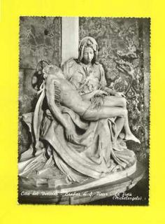 REAL PHOTO PC ITALY SCULTURE MICHELE ANGELO VATICANO