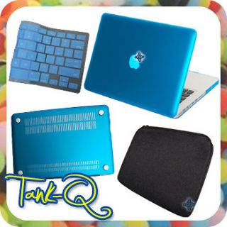 Newly listed Blue Rubberized Cover Case + Bag + KB Skin For Apple Mac