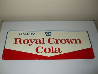 Vintage RC Royal Crown cola tin sign 80 by 30 cms 60s