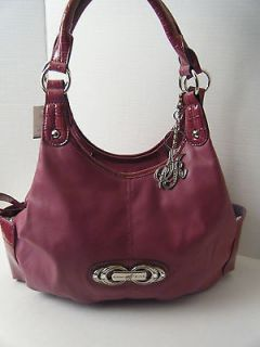 LADIES WOMENS PURSE HANDBAG BY SIENNA RICCHI PURPLE GATOR PRINT