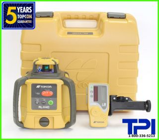 NEW TOPCON RL H4C SELF LEVELING ROTARY LASER LEVEL, SLOPE LASER