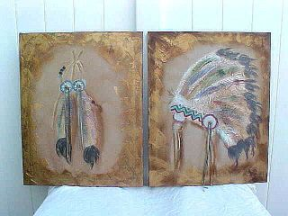 Western Head Dress LEE REYNOLDS BURR Studio PAINTINGS
