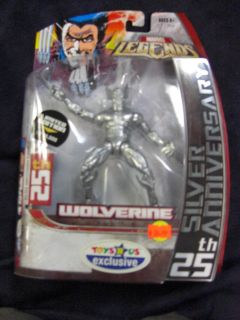 MARVEL LEGENDS WOLVERINE TOYS R US EXCLUSIVE ACTION FIGURE 25TH SILVER
