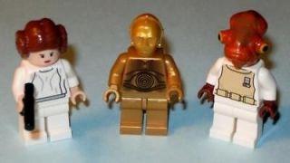 LEGO Star Wars Princess Leia Ackbar C3PO C 3PO Gold Droid Starwars