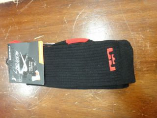 NIKE ELITE SOCKS LEBRON JAMES MIAMI HEAT BASKETBALL SOCKS SZ L 8 12